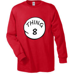 Thing 1 - Thing 2 - Thing 3 - 8 Men's Long Sleeve T-Shirt