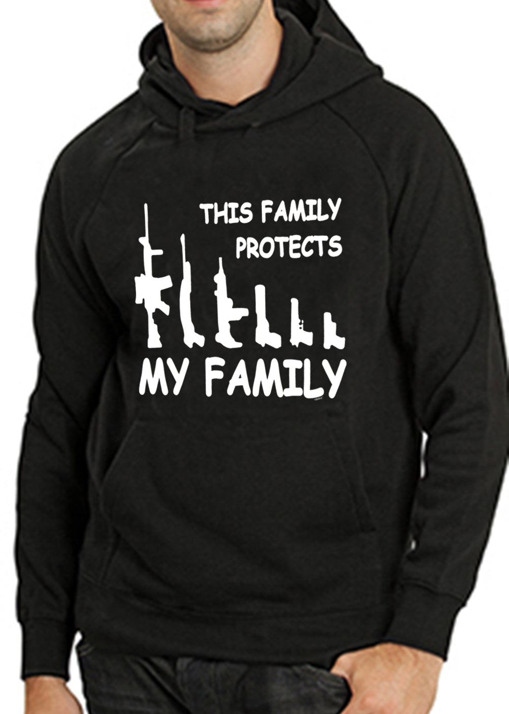 This Family Protects My Family Adult Hoodie