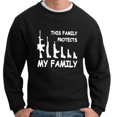 This Family Protects My Family Crewneck Sweatshirt