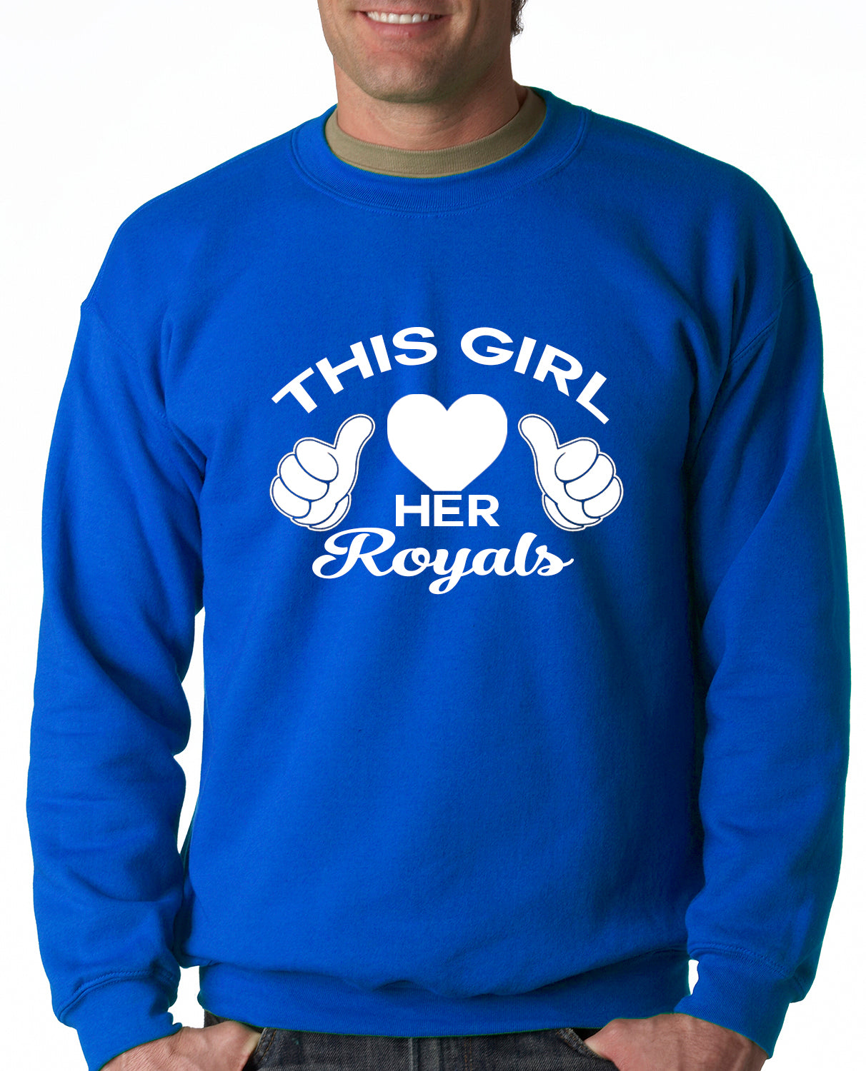 This Girl Loves Her Royals Crewneck Sweatshirt