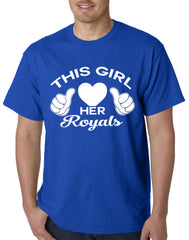 This Girl Loves Her Royals Mens T-shirt