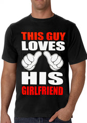 This Guy Loves His Girlfriend Cartoon Hands Men's T-Shirt