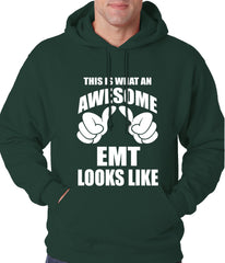 This Is What An Awesome EMT Looks Like Adult Hoodie