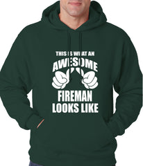 This Is What An Awesome Fireman Looks Like Adult Hoodie