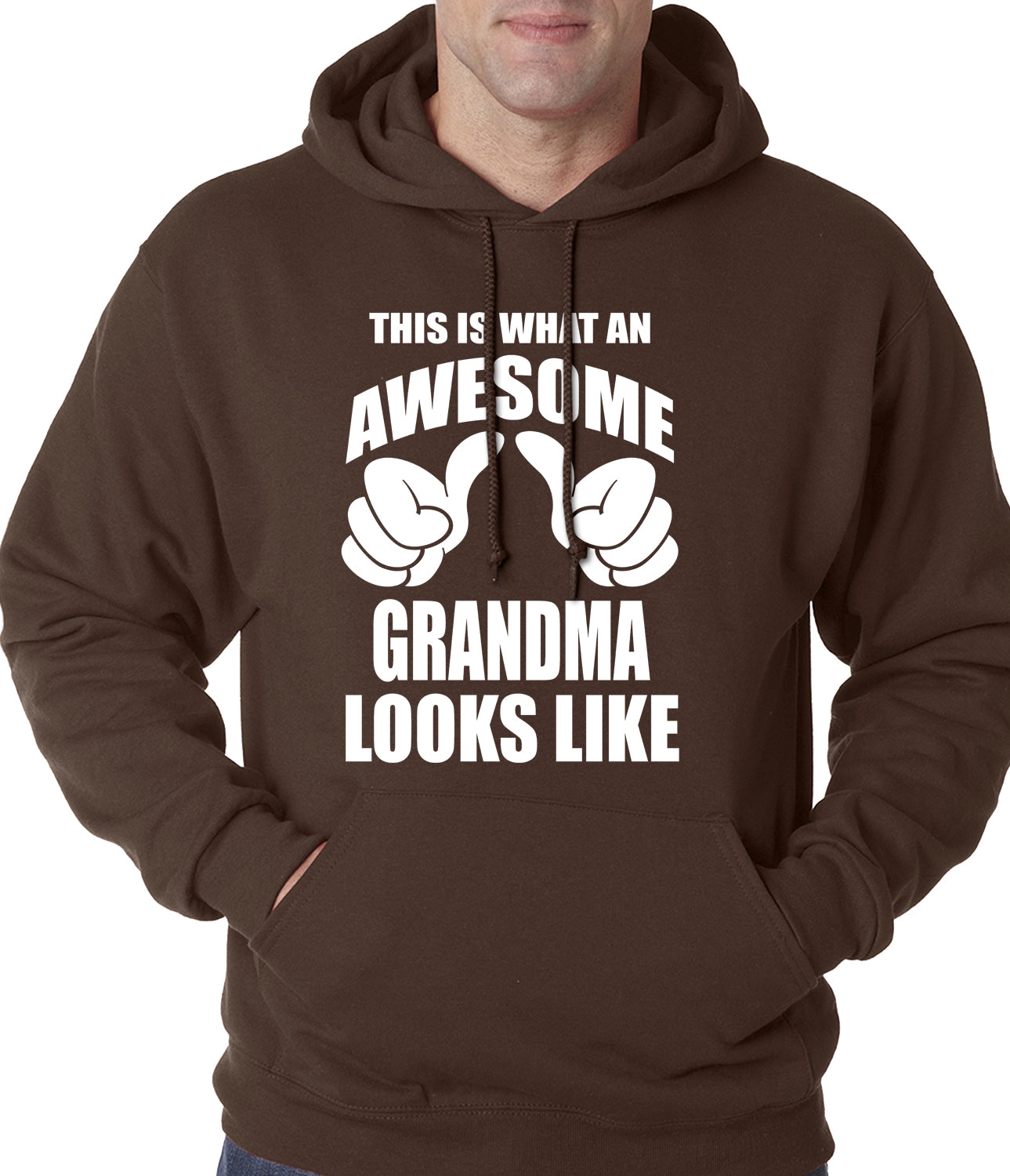 This Is What An Awesome Grandma Looks Like Adult Hoodie