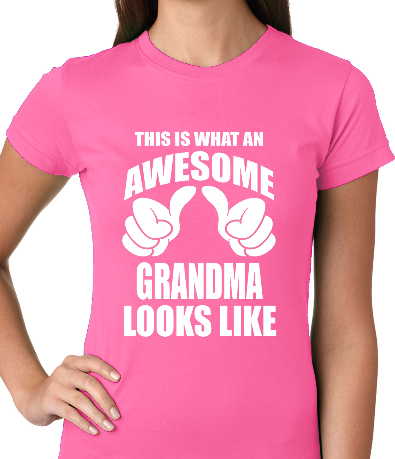 This Is What An Awesome Grandma Looks Like Ladies T-shirt