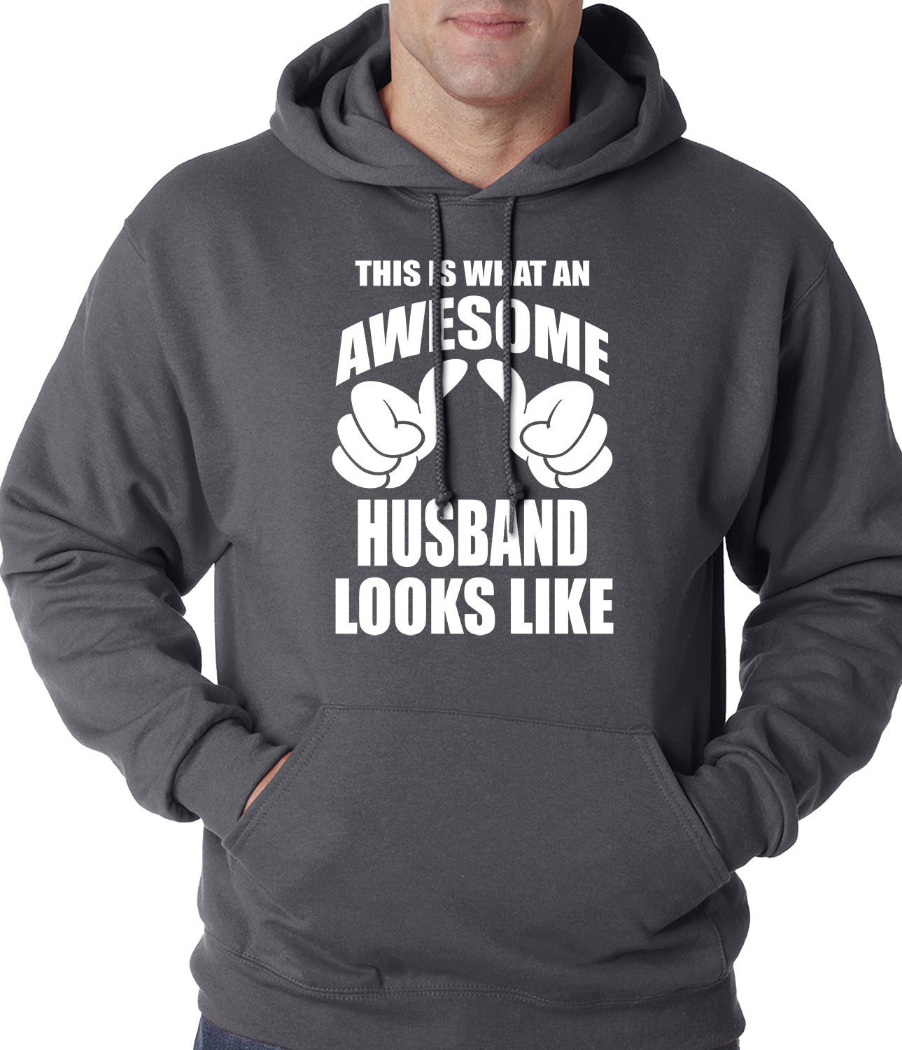 This Is What An Awesome Husband Looks Like Adult Hoodie