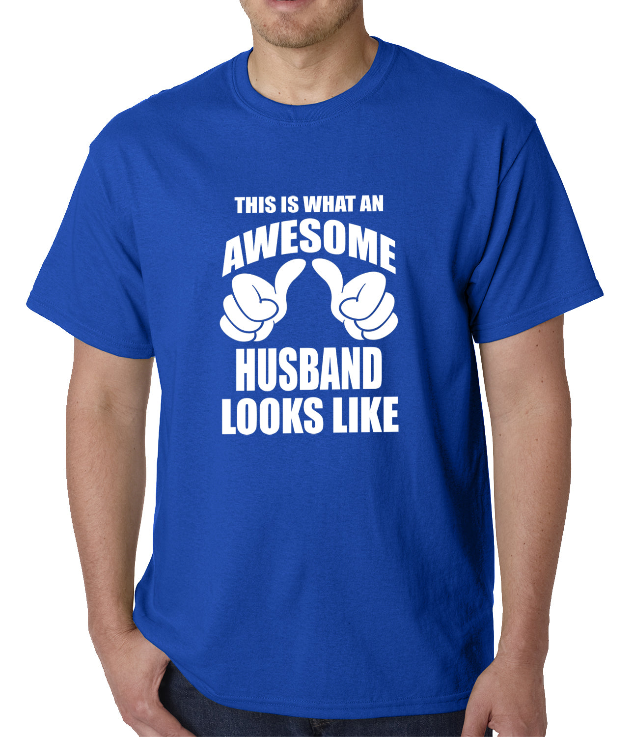 This Is What An Awesome Husband Looks Like Mens T-shirt