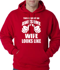 This is What An Awesome Wife Looks Like Adult Hoodie