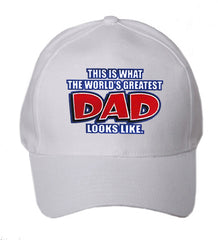 This Is What The World's Greatest Dad looks Like Baseball Hat