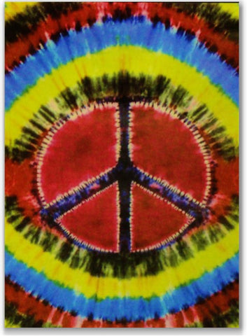 Tie Dye Peace Sign Wall Hang Tapestry & Bedspread
