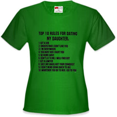 Top 10 Rules For Dating My Daughter Girl's T-Shirt