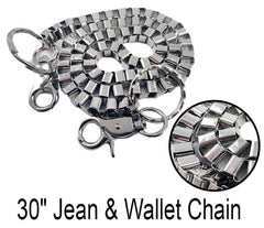 "Tough Box Link 30"" Jean & Wallet Chain"