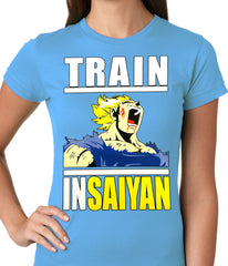 Train Like Insaiyan Ladies T-shirt