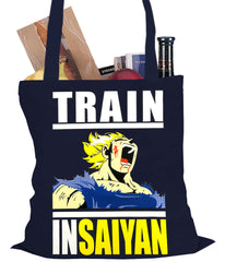 Train Like Insaiyan Tote Bag