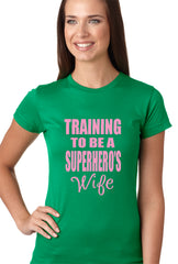 Training To Be A Superhero's Wife Girls T-shirt