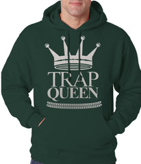 Trap Queen Full Silver Adult Hoodie