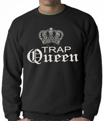Trap Queen Silver Crown Adult Crewneck
