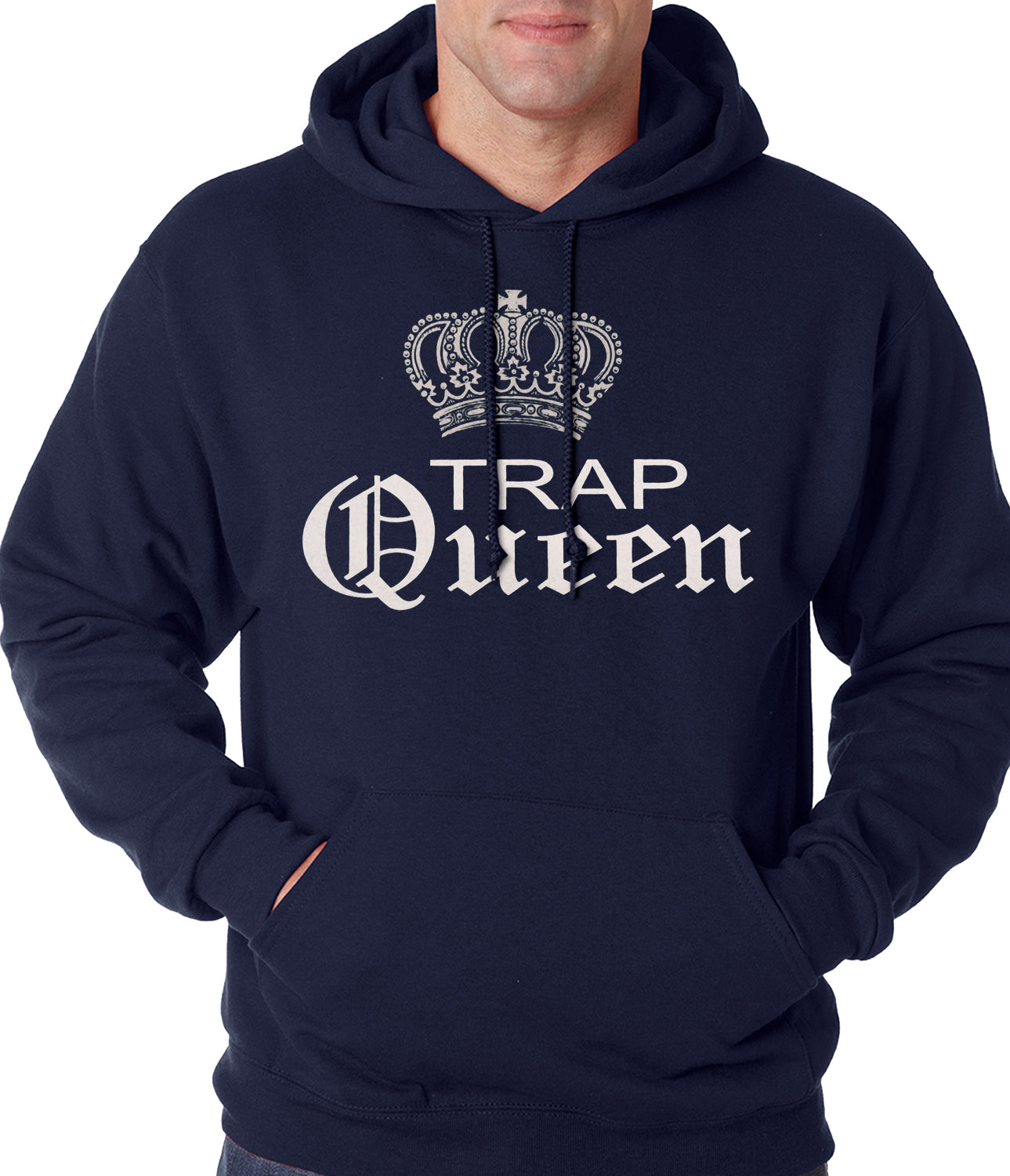 Trap Queen Silver Crown Adult Hoodie
