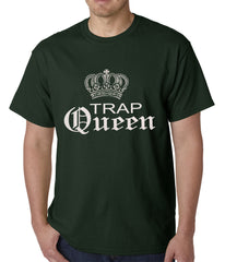 Trap Queen Silver Crown Mens T-shirt