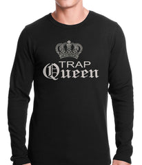 Trap Queen Silver Crown Thermal Shirt