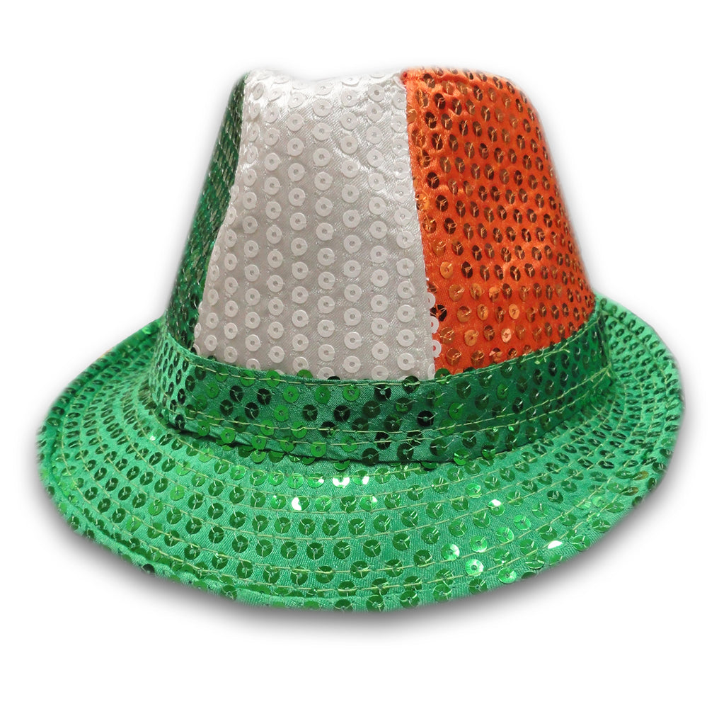 586d17f865e Tri-Color Fedora Hat - Irish Sequin Party Hat – Bewild