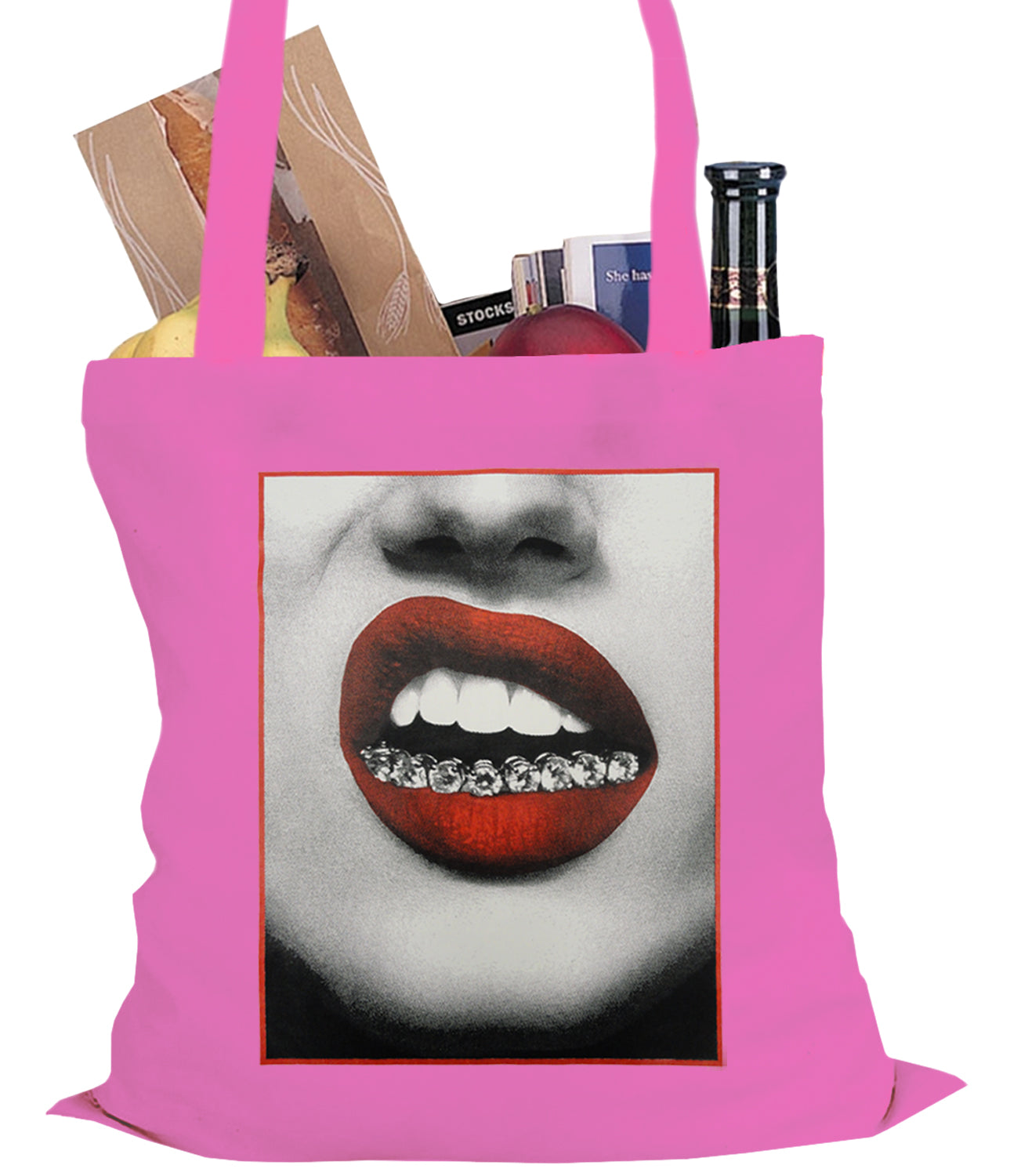 Trill Lips Diamond Grill Tote Bag