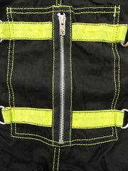 "Tripp NYC ""Biohazard"" Bondage Pants With Zip Off Legs to Shorts (Black/Lime Green)"