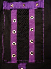"Tripp NYC ""Death Row"" Bondage Pants (Black/Purple)"