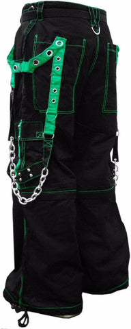 "Tripp NYC ""Fallout"" Bondage Pants (Black / Green)"