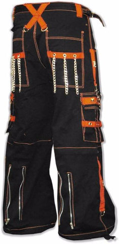"Tripp NYC ""Kryptonic"" Bondage Pants (Black / Orange)"