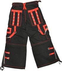 "Tripp NYC ""New Death Row"" Bondage Pants (Black/Red)"