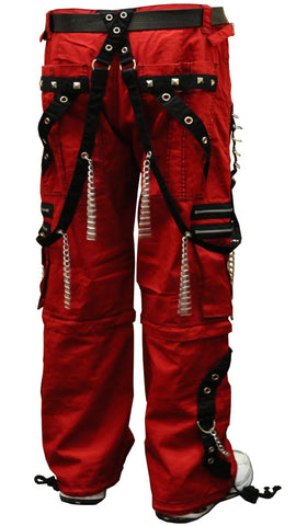 "Tripp NYC ""New Dungeon Dweller"" Bondage Pants (Red/Black)"