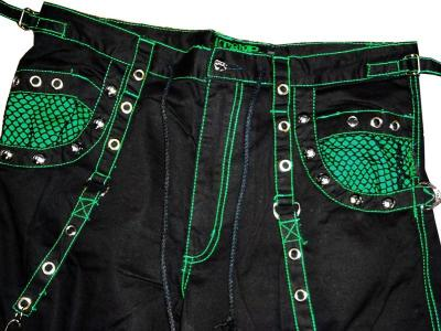 "Tripp NYC ""Power On"" Bondage Pants (Black/Green)"