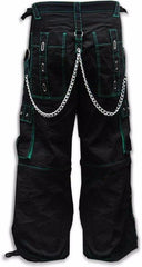 "Tripp NYC ""Serpent"" Bondage Pants (Black/Green)"