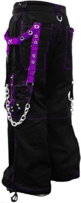 "Tripp NYC ""Stryker"" Bondage Pants (Black/Purple)"