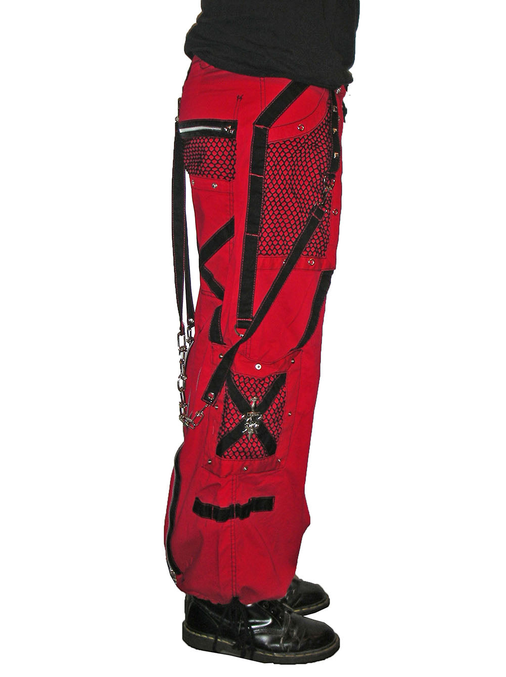 "Tripp NYC ""Symbol"" Bondage Pants (Red & Black)"