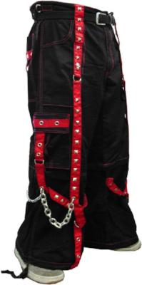 "Tripp NYC ""The Hands of Time"" Bondage Pants (Black/Red)"
