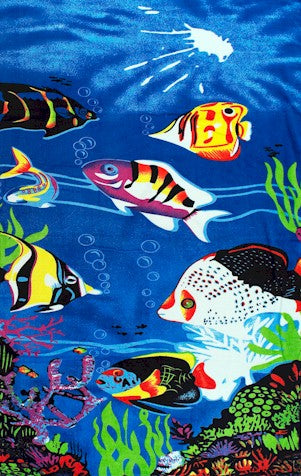 Tropical Fish Beach & Bath Towel