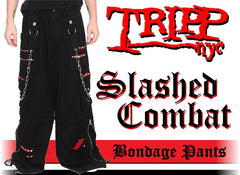 "Tripp NYC ""Slashed Combat"" Bondage Pants"