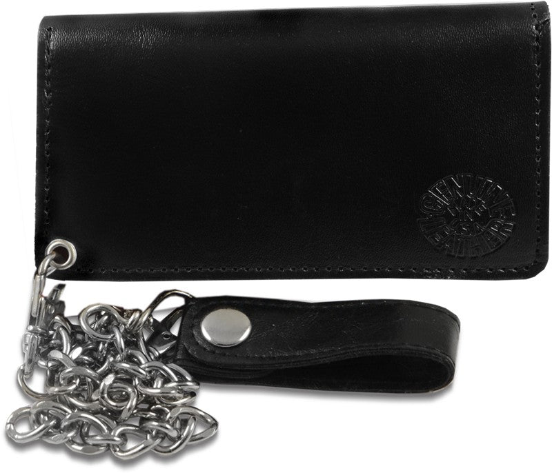 Trucker Wallet - Plain Leather 8 Inch Chain Wallet