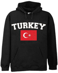 Turkey Vintage Flag International Hoodie