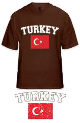 Turkey Vintage Flag International Mens T-Shirt
