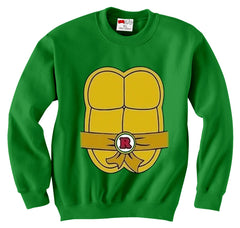 Turtle Costume with Letter Buckle Crewneck Sweatshirt