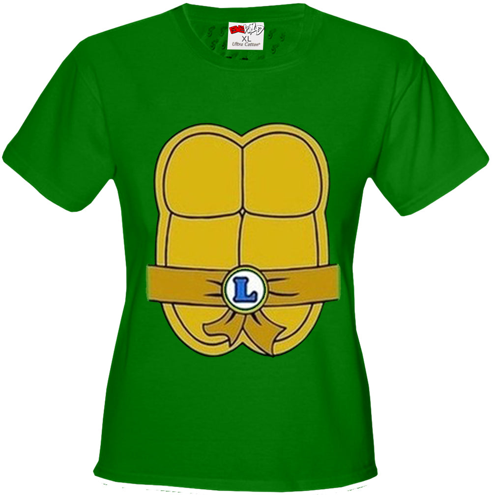 Turtle Costume with Letter Buckle Girl's T-Shirt