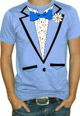 Men's Light Blue Tuxedo Shirt