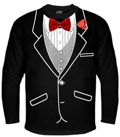 Tuxedo Shirts - All Occasion Formal Tuxedo Long sleeve T-Shirt