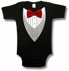 Tuxedo T-Shirts - All Occasion Formal Tuxedo Infant Onesies (Black)