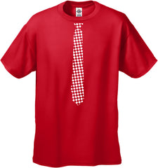 Tuxedo T-Shirts - Checkered Tie Men's T-Shirt