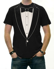 """The Classic"" Black Tie Tuxedo T-Shirt"